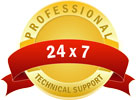 professional 24/7 support guarantee